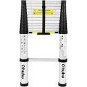 Ohuhu 12.5 FT Aluminum Telescoping Ladder, One-Button Retraction Extension Ladder