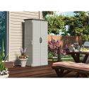 Suncast Vertical Outdoor Storage Shed for Backyards and Patios 20 Cubic ft Capacity