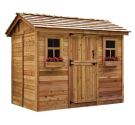 Cabana 9 ft. W x 6 ft. D Solid Wood Storage Shed